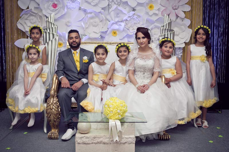 Bride & Groom with Flowergirls